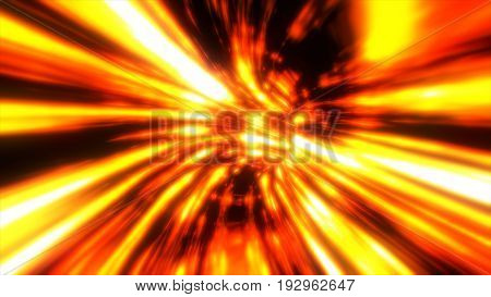 Fiery Interstellar Travel, Computer Generated Abstract Background, 3D Rendering