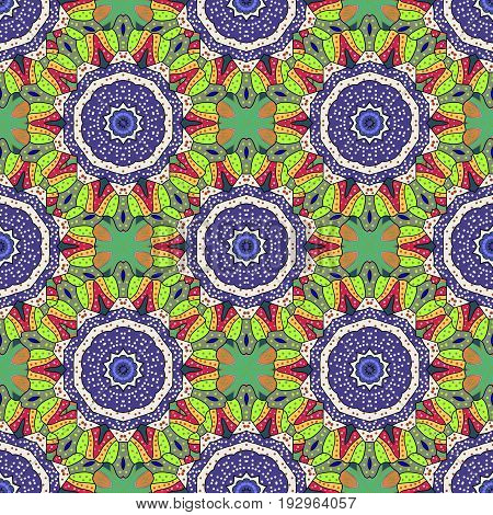Vector seamless colorful floral pattern. Hand drawn floral texture decorative flowers.
