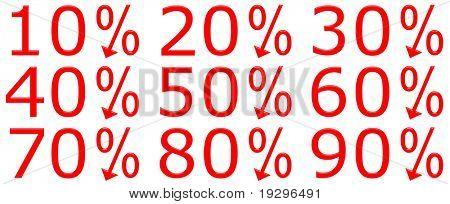 3d discount percentages