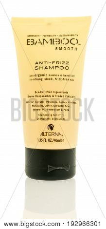 Winneconne WI -23 June 2017: A bottle of Bamboo smooth shampoo on an isolated background