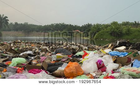 Huge amount of polluting trash in countryside