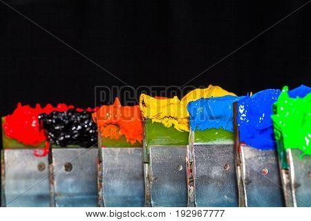 Plastisol Ink On Print Handle In Factory Tee Shirt