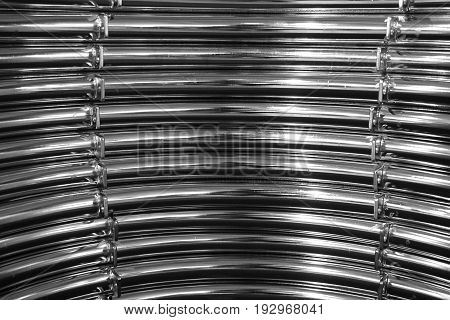 abstract of metal curve for background used