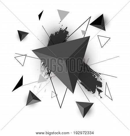 Triangle abstract on white background, stock vector