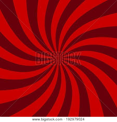Abstract cherry striped spiral background. Spiral of yogurt. Stock vector