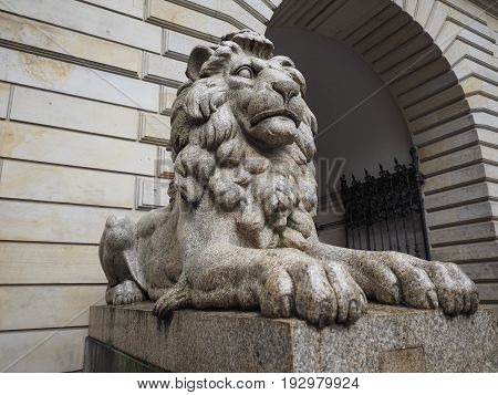 Lions At Hamburg Rathaus City Hall