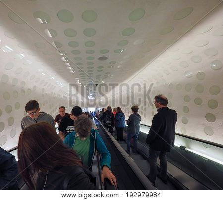 Elbphilharmonie Concert Hall Escalator In Hamburg