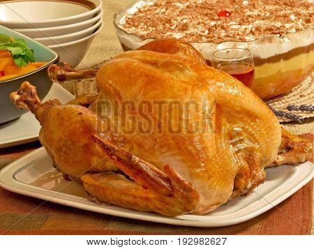 ROAST TURKEY, THANKS GIVING MEAL IN THE USA IS CENTERED ON TURKEY 32lakj