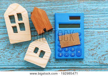 Wood House And Calculator