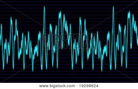image of a glowing audio or sine wave