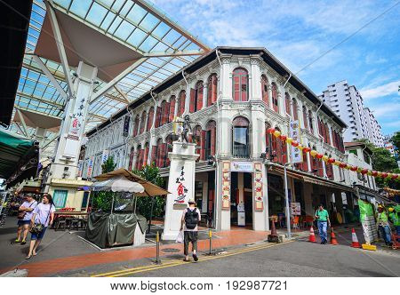 Old Street In Chinatown, Singapore