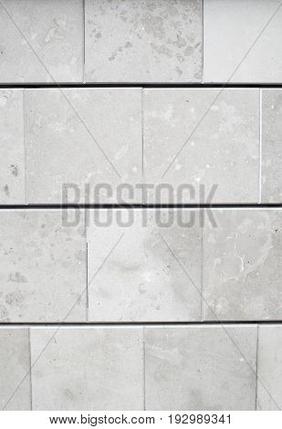 New decorative gray cladding slabs close up