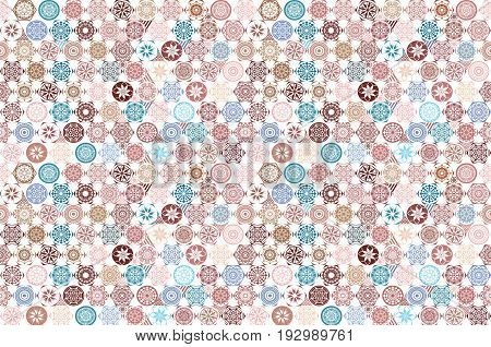 Seamless Ceramic Tile With Colorful Patchwork. Vintage Multicolor Pattern In Turkish Style. Endless