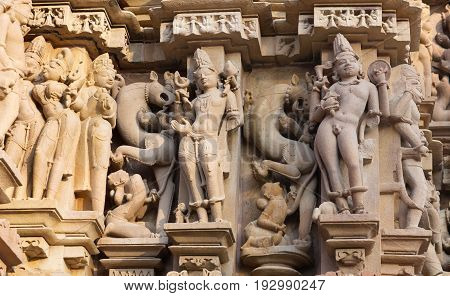 Famous Erotic Temple In Khajuraho, India