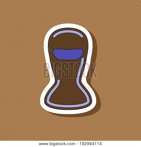 paper sticker on stylish background Balaclava fashion