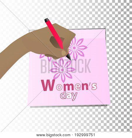 Women's Day. Feminism. The Hand
