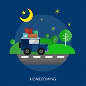 Homecoming Conceptual Design | Set of great flat design illustration concepts for religion, ramadan, islamic and much more. poster