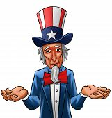 Uncle sam painted he looks not so happy poster