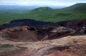 Cerro Negro Volcano near Leon in Nicaragua a popular place for tourists to do volcano boarding poster