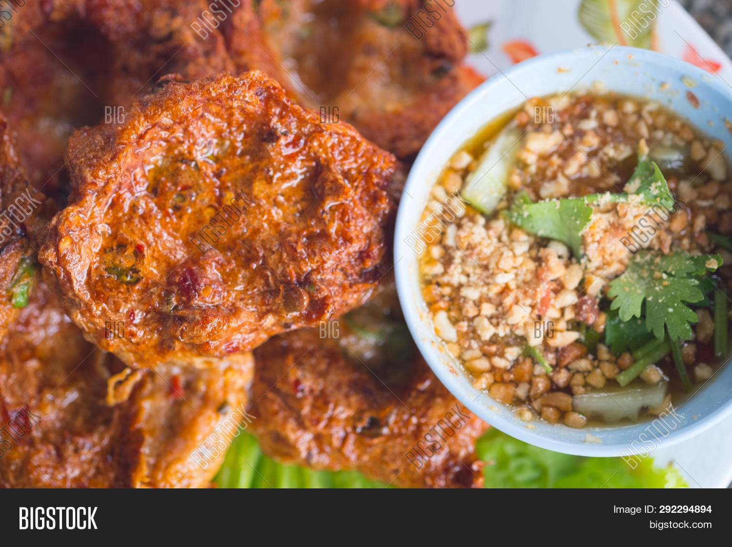Thai Fried Fish Cake ( Image & Photo (Free Trial) | Bigstock
