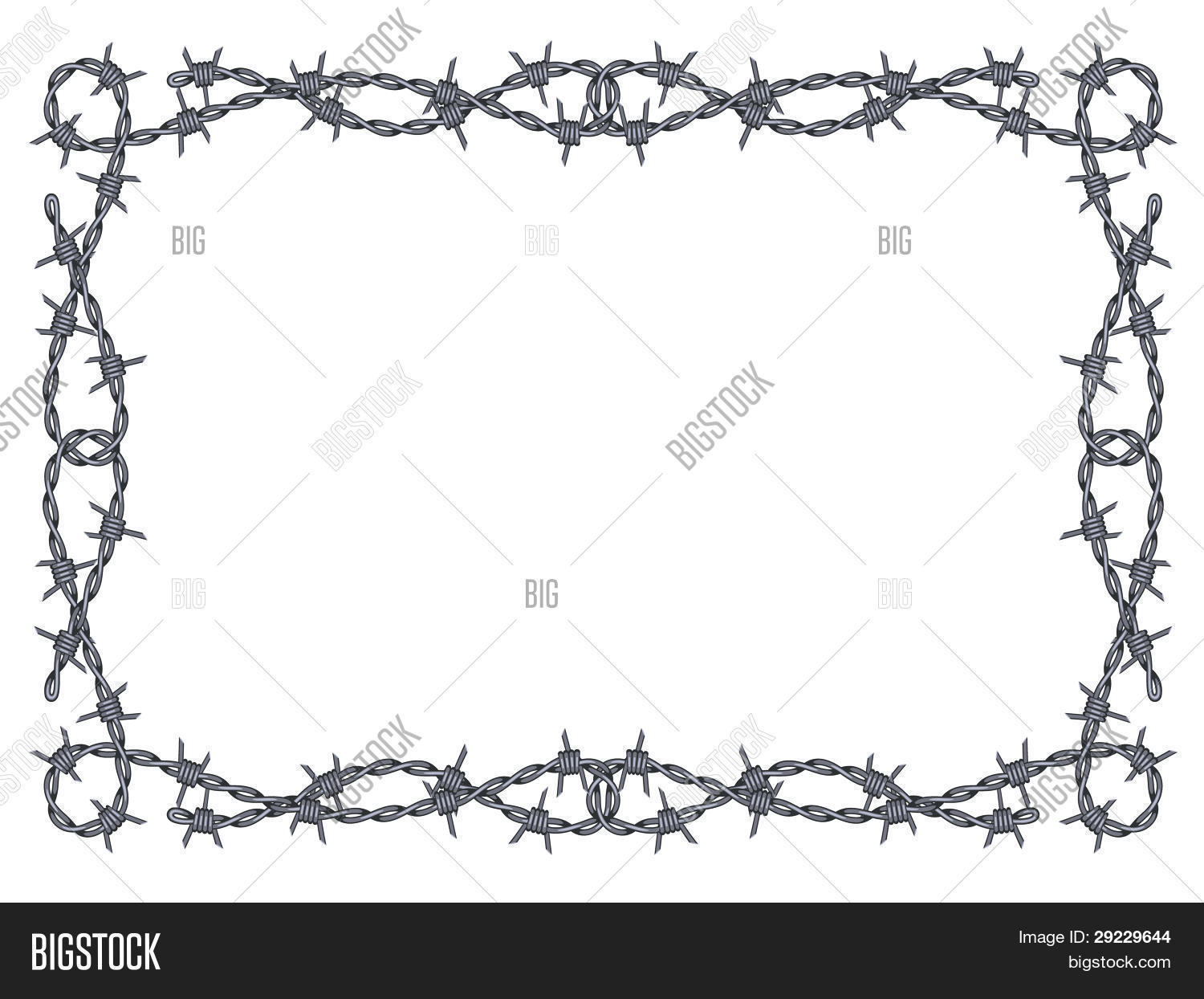 Barbed Wire Frame Vector & Photo (Free Trial) | Bigstock