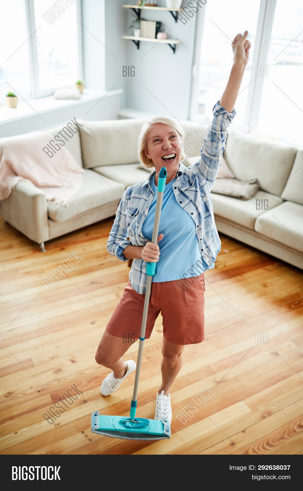 Jolly Excited Mature Image Photo Free Trial Bigstock