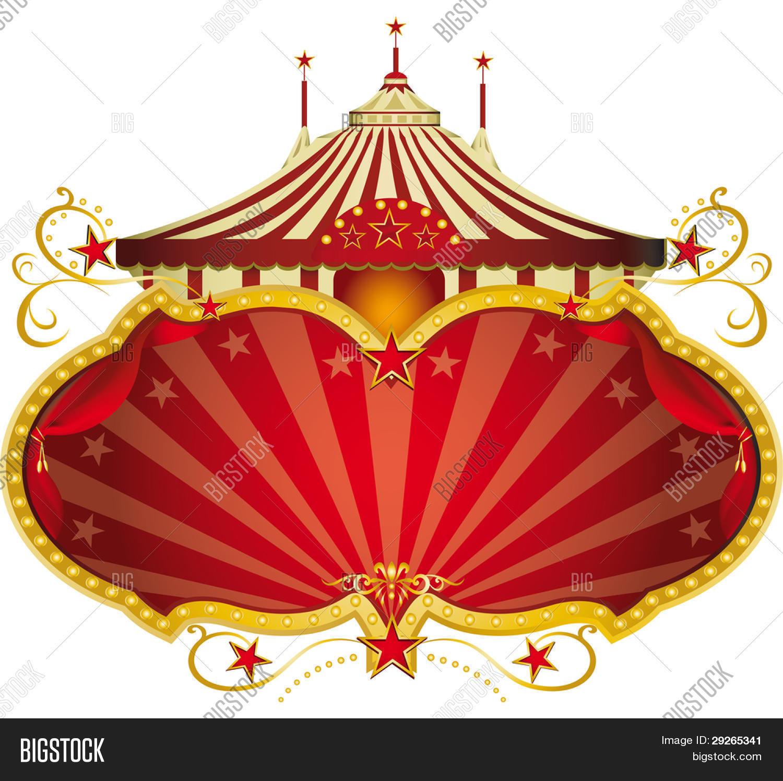 Magic Red Circus Frame. Circus Vector & Photo | Bigstock
