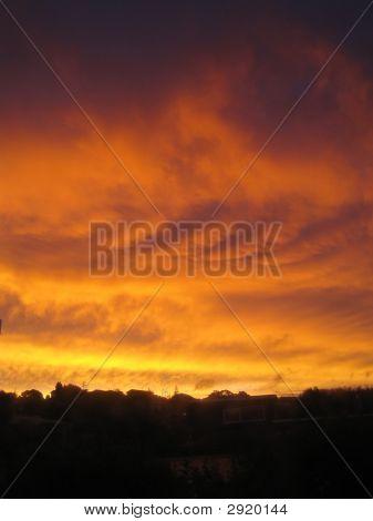 Vivid Orange Sunset