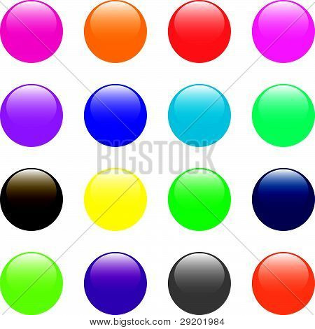 Glossy Round Buttons