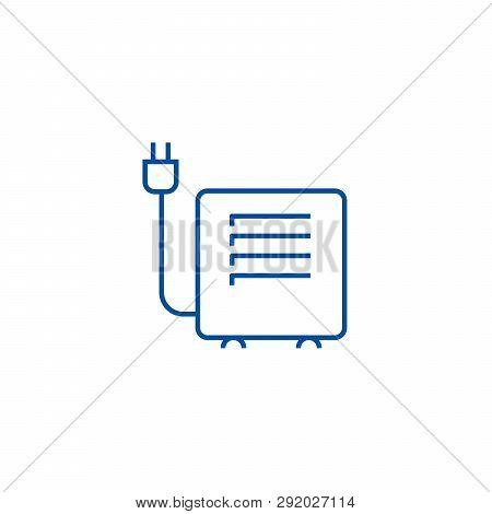 Convector, Heater Line Icon Concept. Convector, Heater Flat  Vector Symbol, Sign, Outline Illustrati