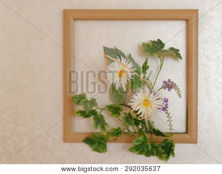 Flower Composition Panel Picture On The Wall.