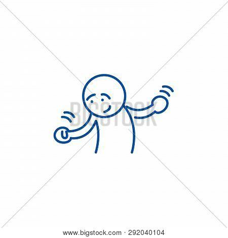 Doubts Line Icon Concept. Doubts Flat  Vector Symbol, Sign, Outline Illustration.
