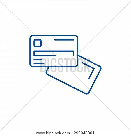 Electronic Money Line Icon Concept. Electronic Money Flat  Vector Symbol, Sign, Outline Illustration