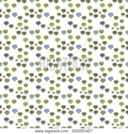 Vector Illustration. Seamless Hearts Pattern. Typography Lettering Poster. Elements On Green, Yellow