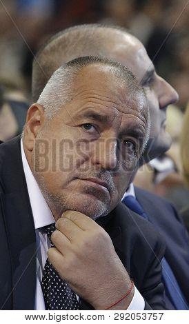 Sofia, Bulgaria - October 9: Bulgarian Prime Minister Boyko Borisov And Gerb Vice-president Tsvetan