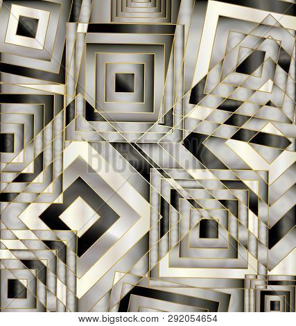 Gray Colored Background Image Of The Abstract Chaos Square