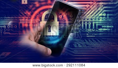 Protecting Information In Mobile Devices. Hacking Mobile Devices By Hackers. Data Protection In The
