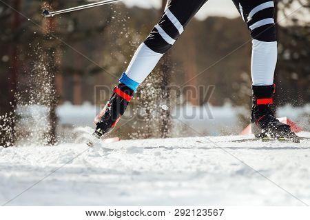 Cross-country Ski Race Legs Man Athlete Skier