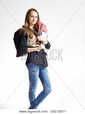 Beautiful Student Girl.
