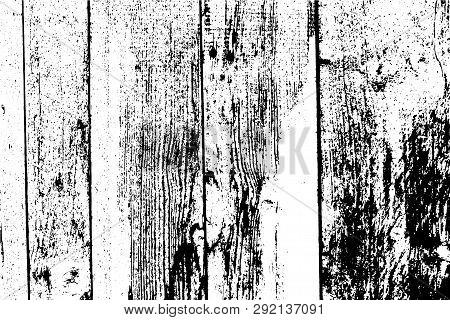 Abstract Background, Vertical Planks, Wooden Wall. Vector Detailed Wood Texture. Put This Illustrati