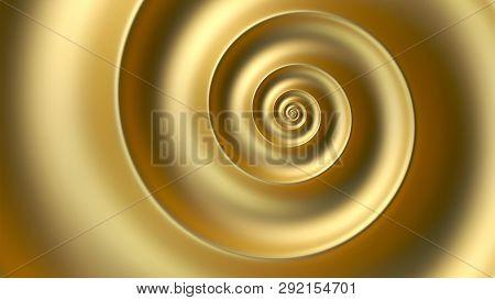 Abstract Fibonacci Golden Spiral Background. Golden Ratio
