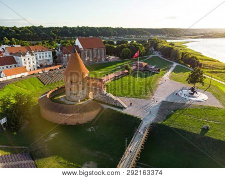 Aerial View Of Kaunas Castle, Situated In Kaunas, Lithuania