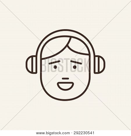 Melomane Line Icon. Listening To Music, Melody, Equipment. Leisure Concept. Can Be Used For Topics L