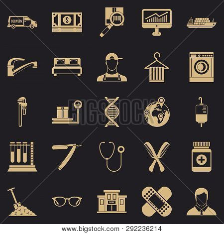 Cash Deposits Icons Set. Simple Set Of 25 Cash Deposits Vector Icons For Web For Any Design