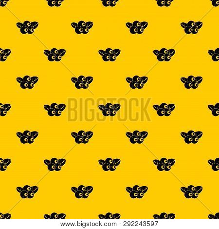Blueberries Pattern Seamless Vector Repeat Geometric Yellow For Any Design