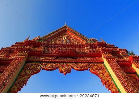 Thai Temple Gate.