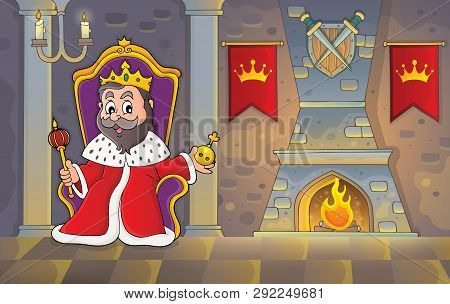 King On Throne Theme Image 2 - Eps10 Vector Picture Illustration.