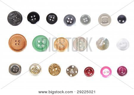 Many Different Buttons Isolated