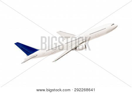 Airplane Isolated On White Background. All The Amenities For The Designer.