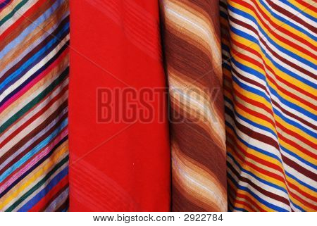 Four Diagonal Pattern Fabrics